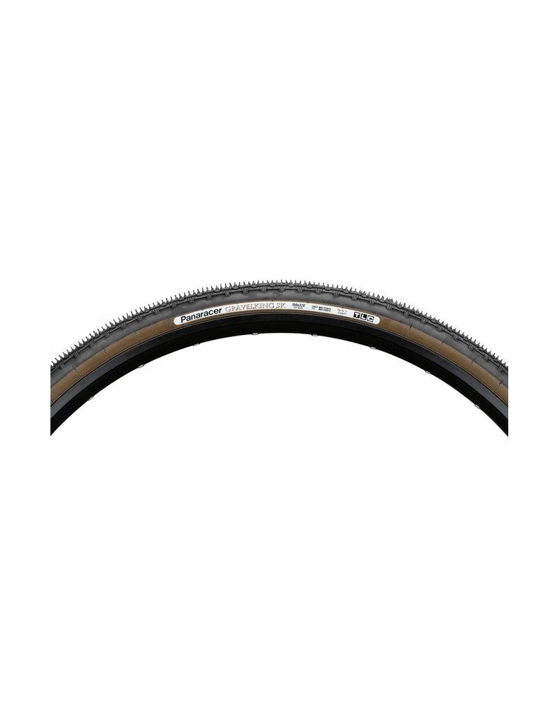 Panaracer Gravelking SK TLC Folding Tyre - 700 x 35c / 38c - Black / Brown
