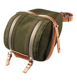 Brooks - Isle Of Wight Medium Saddle Bag - Green / Honey