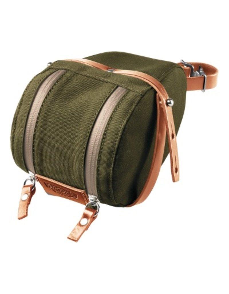 Brooks - Isle Of Wight Medium Saddle Bag - Green / Honey