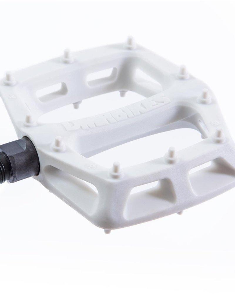 DMR - V6 Plastic Pedal - Cro-Mo Axle - White