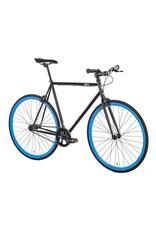 2018 6KU Fixie & Single Speed Bike - Shelby 4Size:52cm black frame / blue wheels
