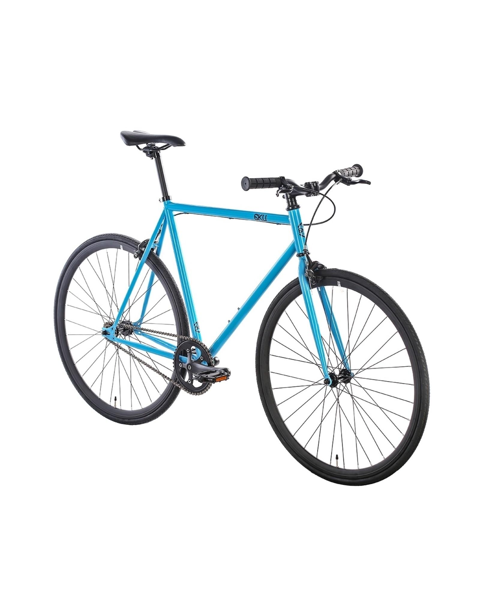 2018 6KU Fixie & Single Speed Bike - IrisSize:49cm blue / black wheels