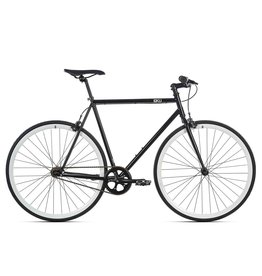 2018 6KU Fixie & Single Speed Bike - Shelby 2 49cm Small - Black Frame White Wheels
