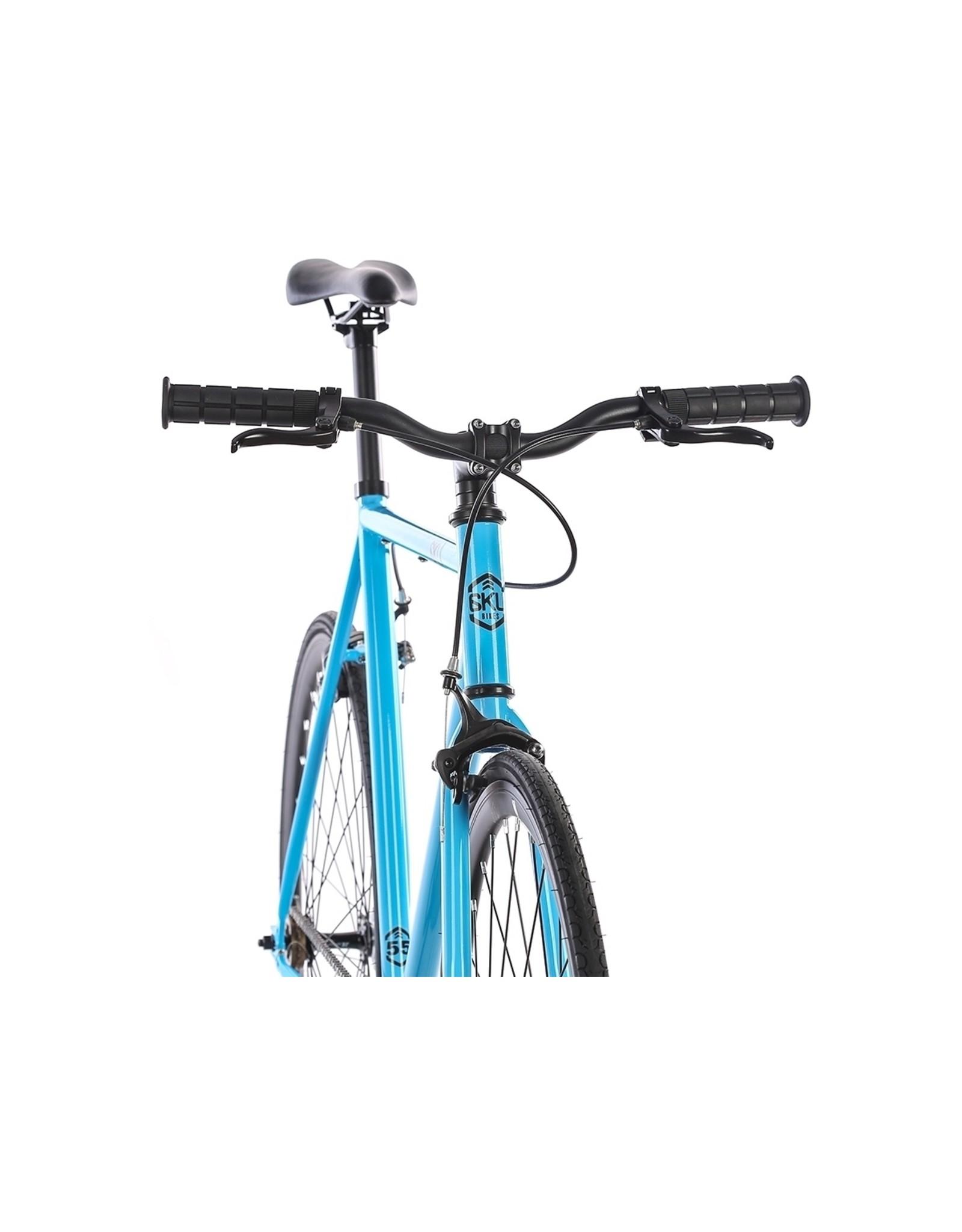 2018 6KU Fixie & Single Speed Bike - IrisSize:52cm blue / black wheels