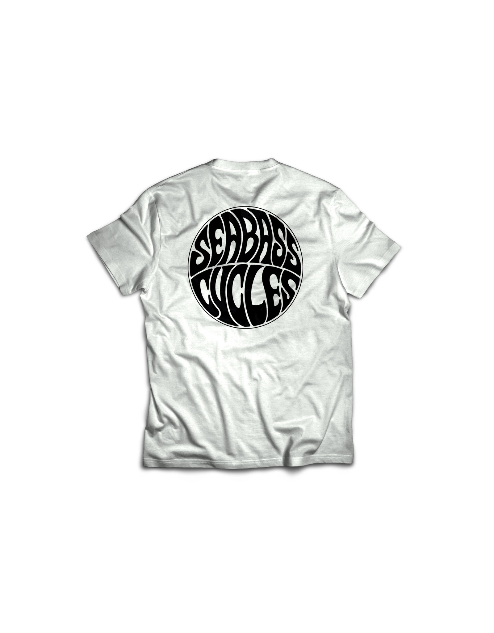 Seabass Cycles Seabass Cycles - Circle Logo - White / Black Ink