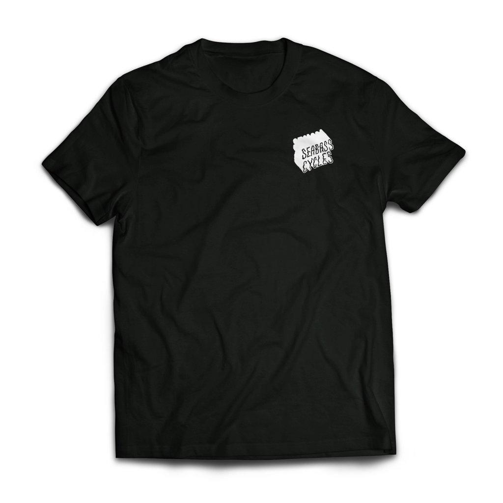 Seabass Cycles Seabass Tshirt Black with Wavy Logo