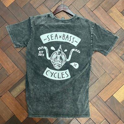 Seabass Cycles Seabass Fish Bar T Shirt  - Stonewash