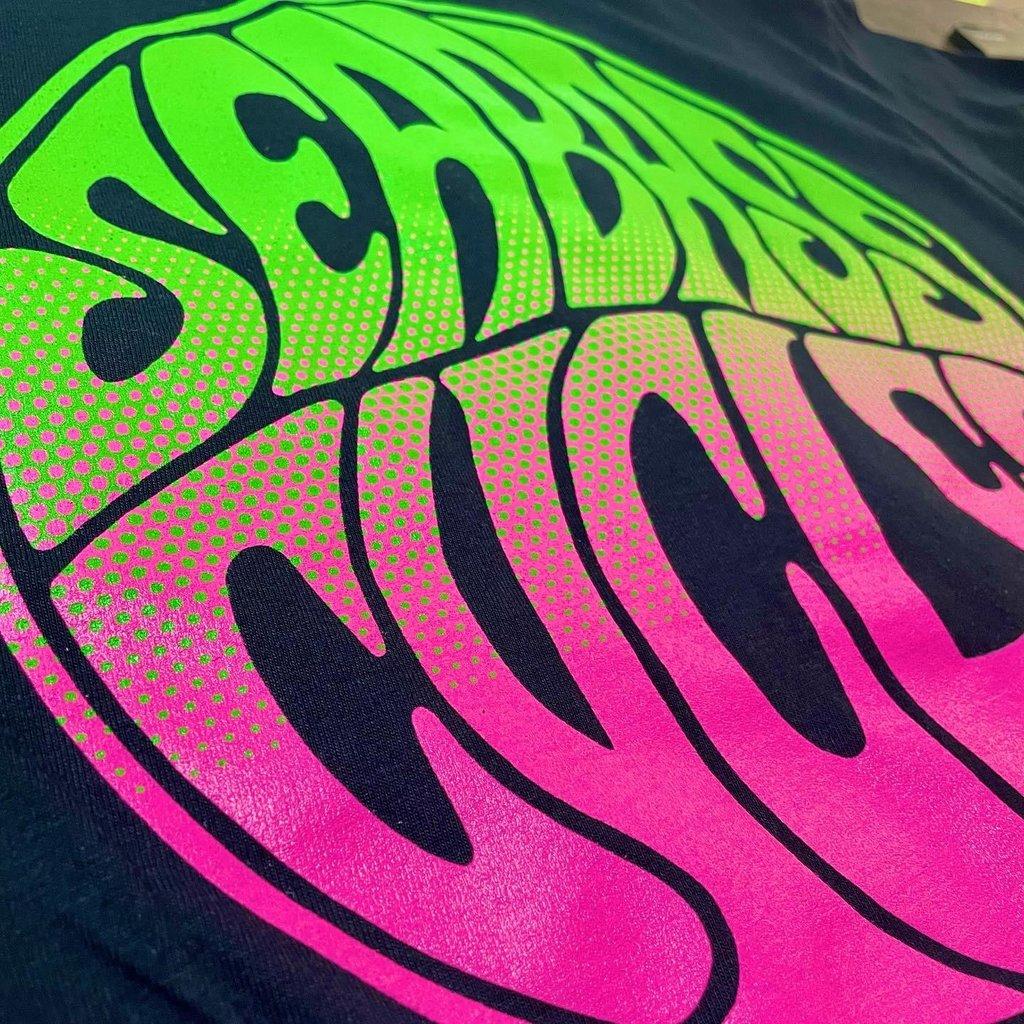 Seabass Cycles Seabass Circle Logo - Pink/Green Fade - Black