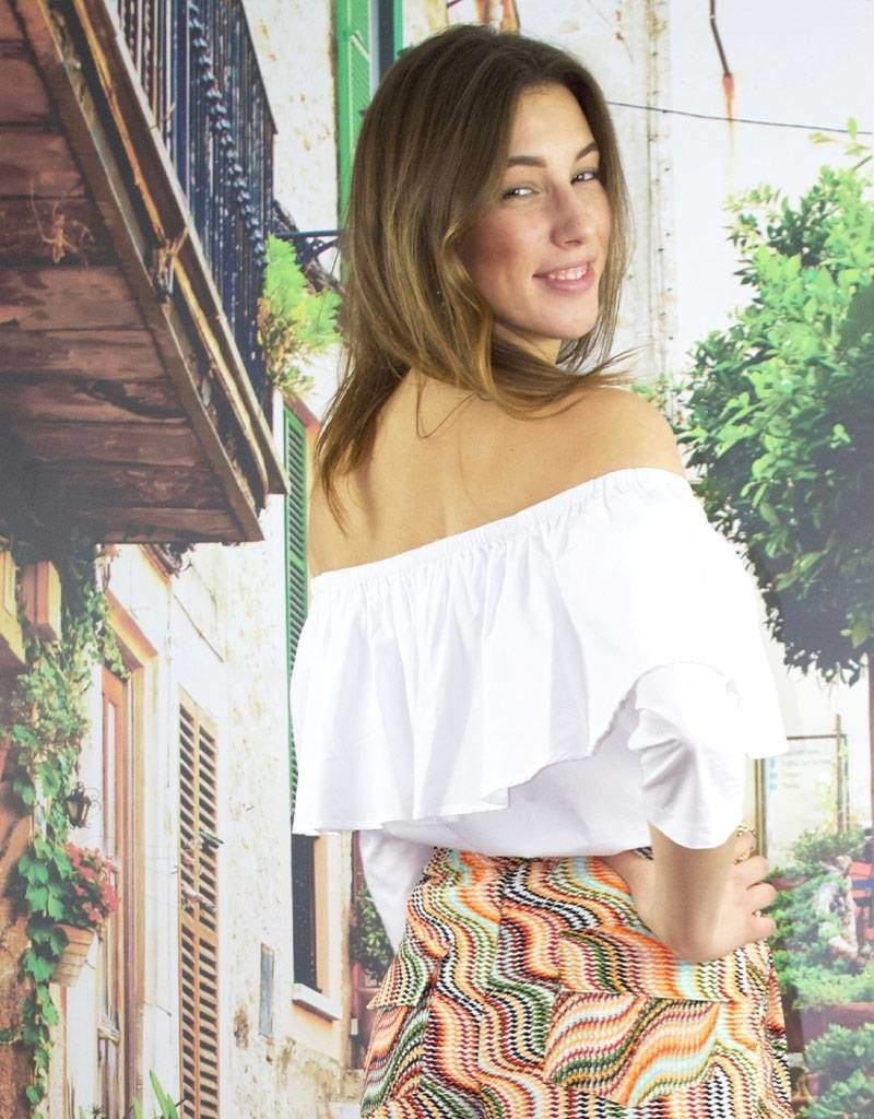 Café Solo FASHION AND LIVING  Carmen-Blouse White