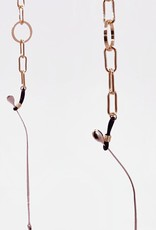 Café Solo FASHION AND LIVING Brillenkette BlackInfinity - runde Glieder