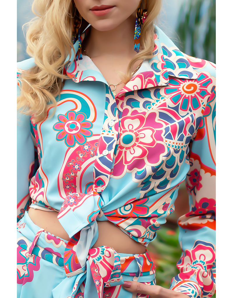 Café Solo FASHION AND LIVING Blouse Marbella Türkis