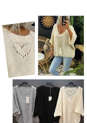 Café Solo FASHION AND LIVING Pullover ''Heart''