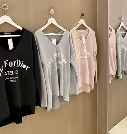 Café Solo FASHION AND LIVING Sweatshirt ''Die for Dior''