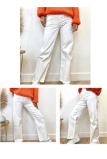 Andere Marken Wide High Jeans White