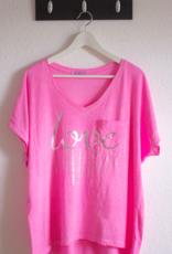 Andere Marken Shirt Pink mit Frontdruck