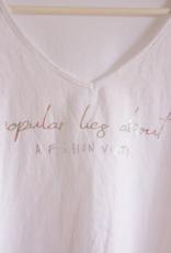 Andere Marken Oversized Shirt mit V-Auschnitt