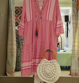 Andere Marken Tunika Pink/Weiß