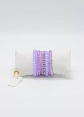 Café Solo Louis & Parmakerli Armband Lilac Set
