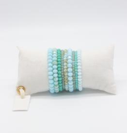 Café Solo Louis & Parmakerli Armband Turquoise Set