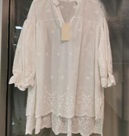 Andere Marken Tunika Bluse White