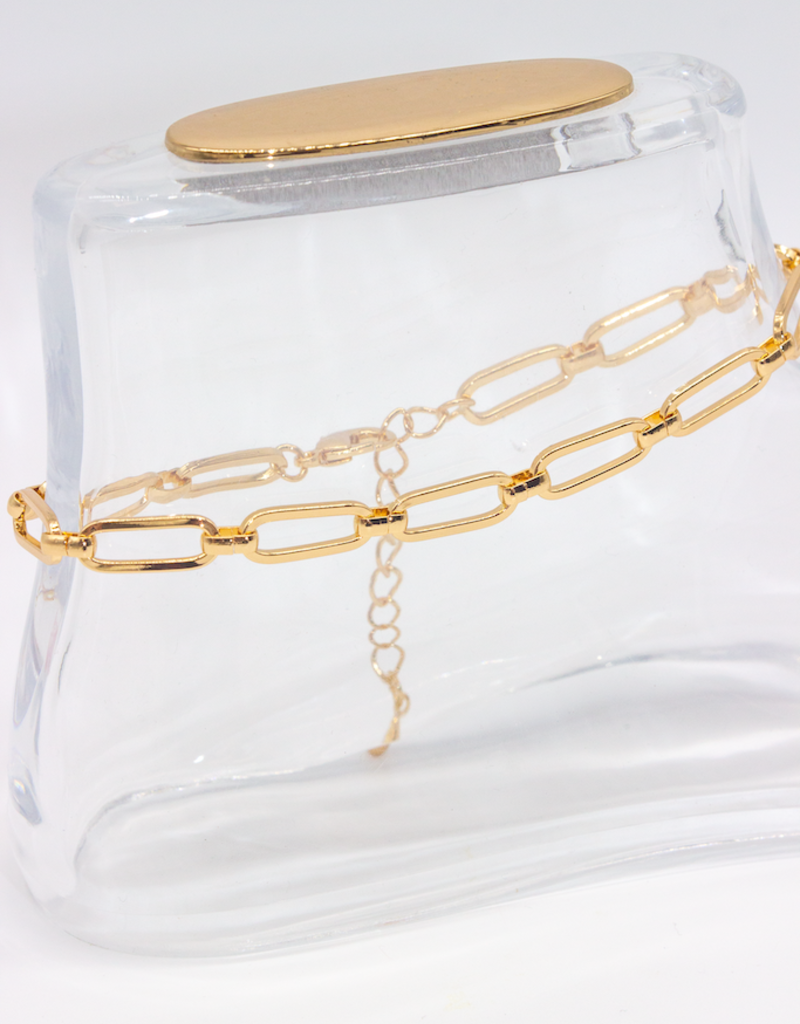 Café Solo Louis & Parmakerli Anklet with Large Eyelets