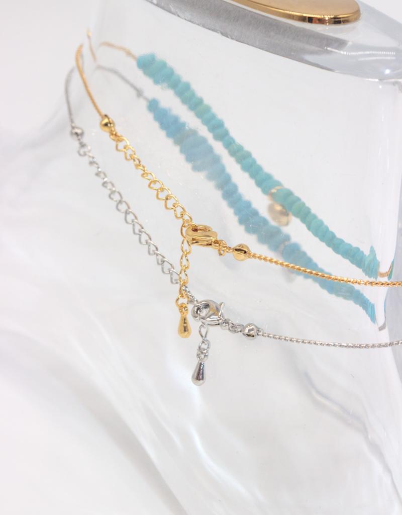 Café Solo Louis & Parmakerli Anklet Beads