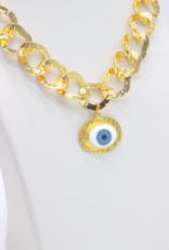 Café Solo Louis & Parmakerli Necklace Evil Eye