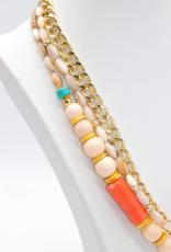 Café Solo Louis & Parmakerli Necklace Real stones