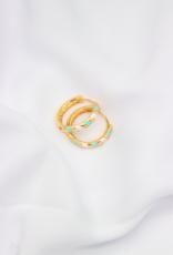 Café Solo Louis & Parmakerli Earrings Stripes