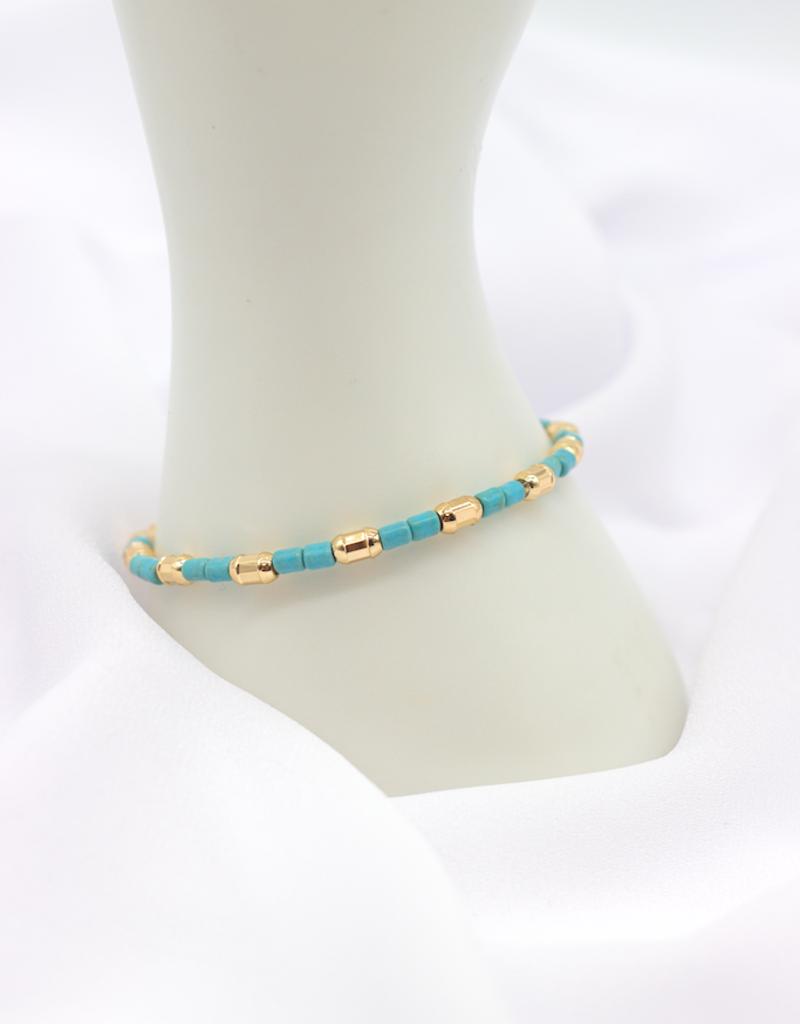 """Café Solo Louis & Parmakerli Armband """"Turquoise Gold"""""""