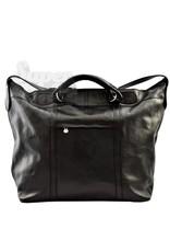 SAB Design Handbagage Trolley zwart leder aanbieding