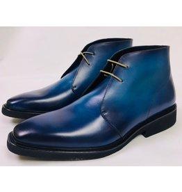 Roel Berkelmans Derby boot extra breed kleur blauw oceaan