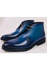 Roel Berkelmans Derby boot extra breed (H+) kleur blauw oceaan zool rubber lichtgewicht
