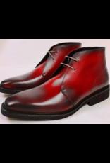 Roel Berkelmans Derby boot extra breed (H+) kleur rood