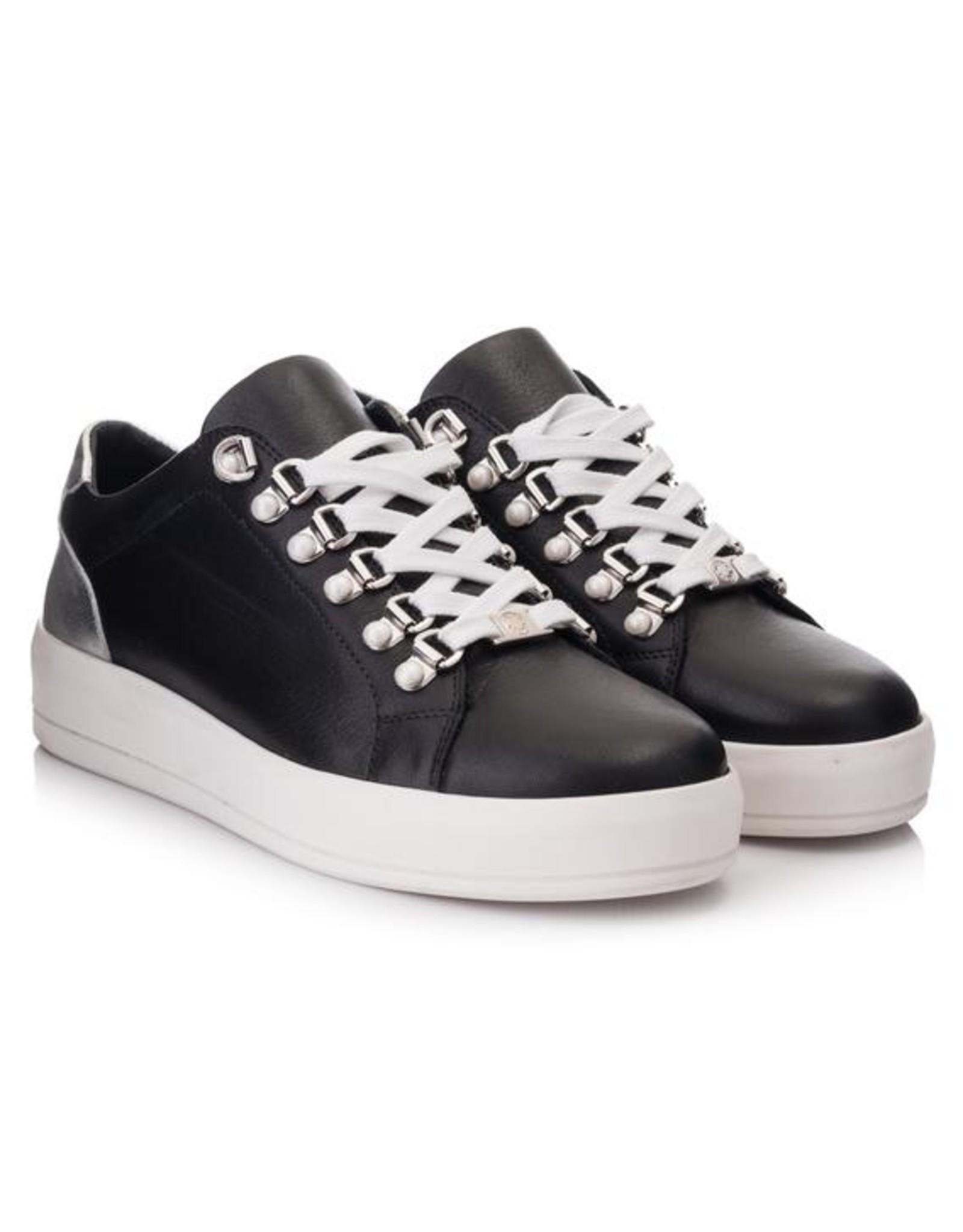 Hinson Sneaker dames zwart zool wit