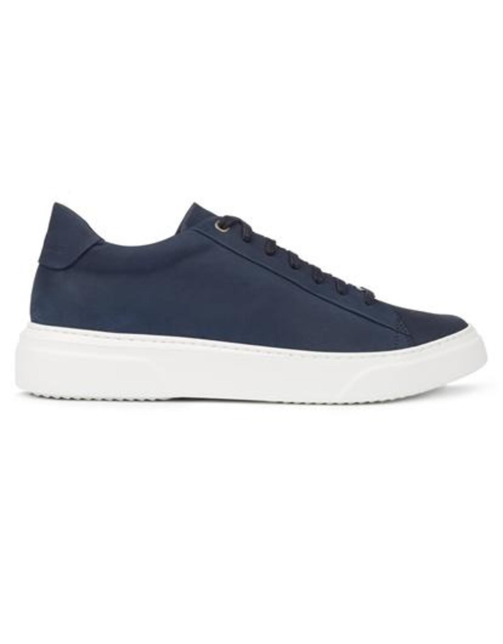 Hinson Sneaker leder blauw-witte zool