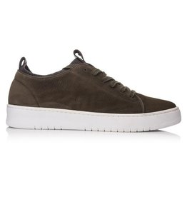 Hinson Sneaker Olijf groen Nubuck-zool wit