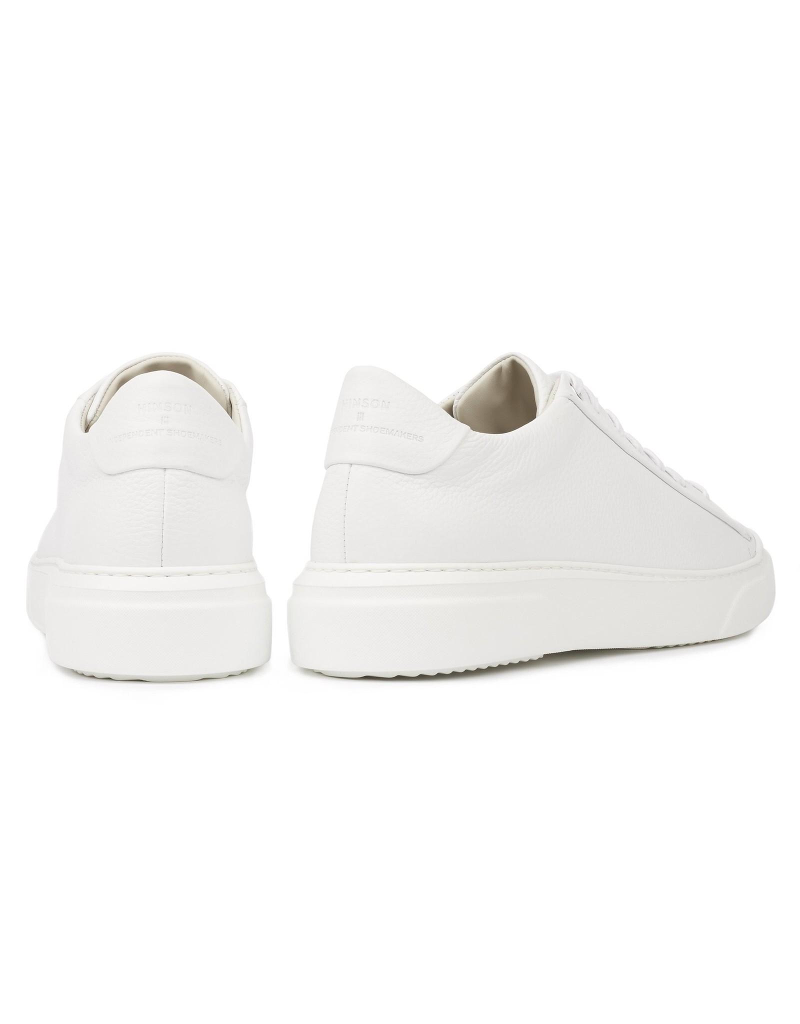 Hinson Sneaker leder wit-witte zool