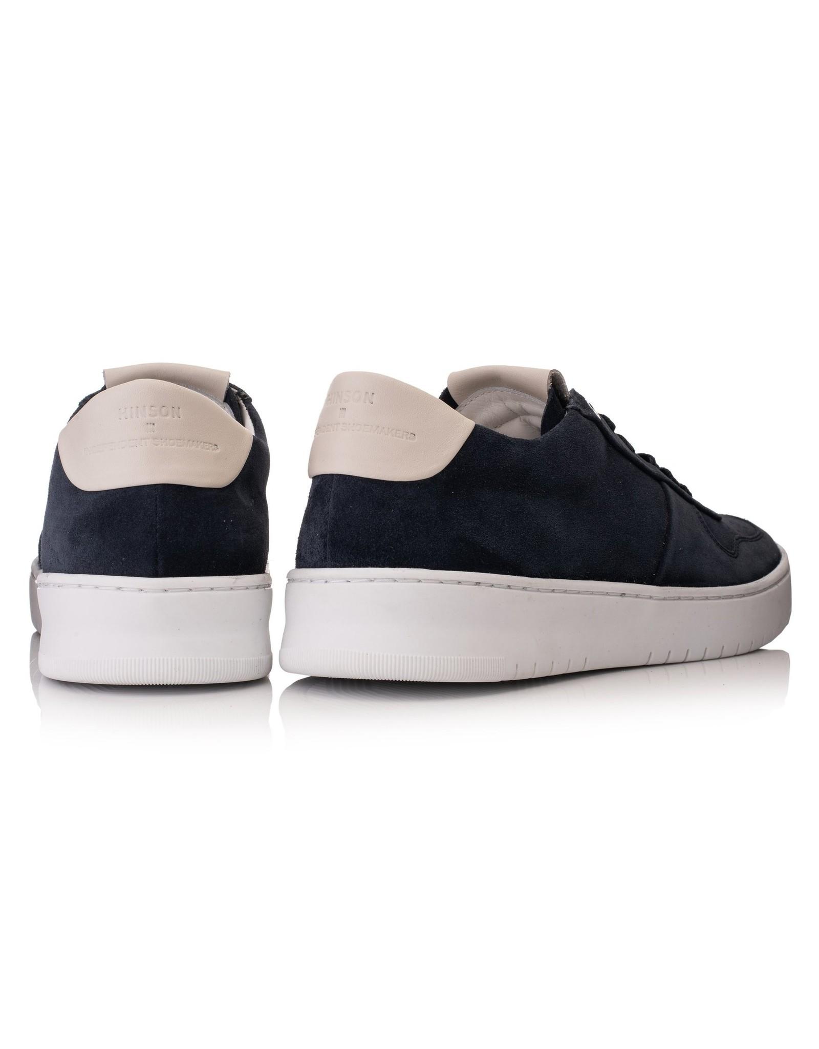 Hinson Sneaker blauw suede-zool suede