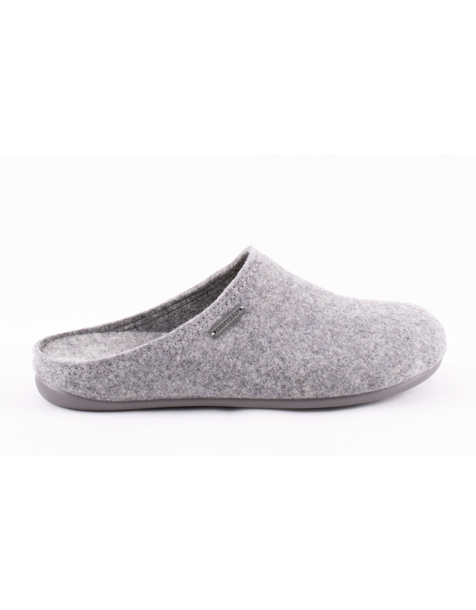 Shepherd pantoffel instap echt wol grijs