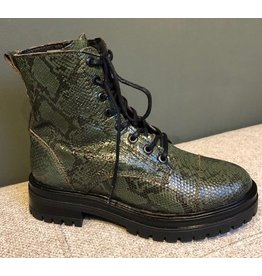Hinson Leyton Comad mid slangenprint green