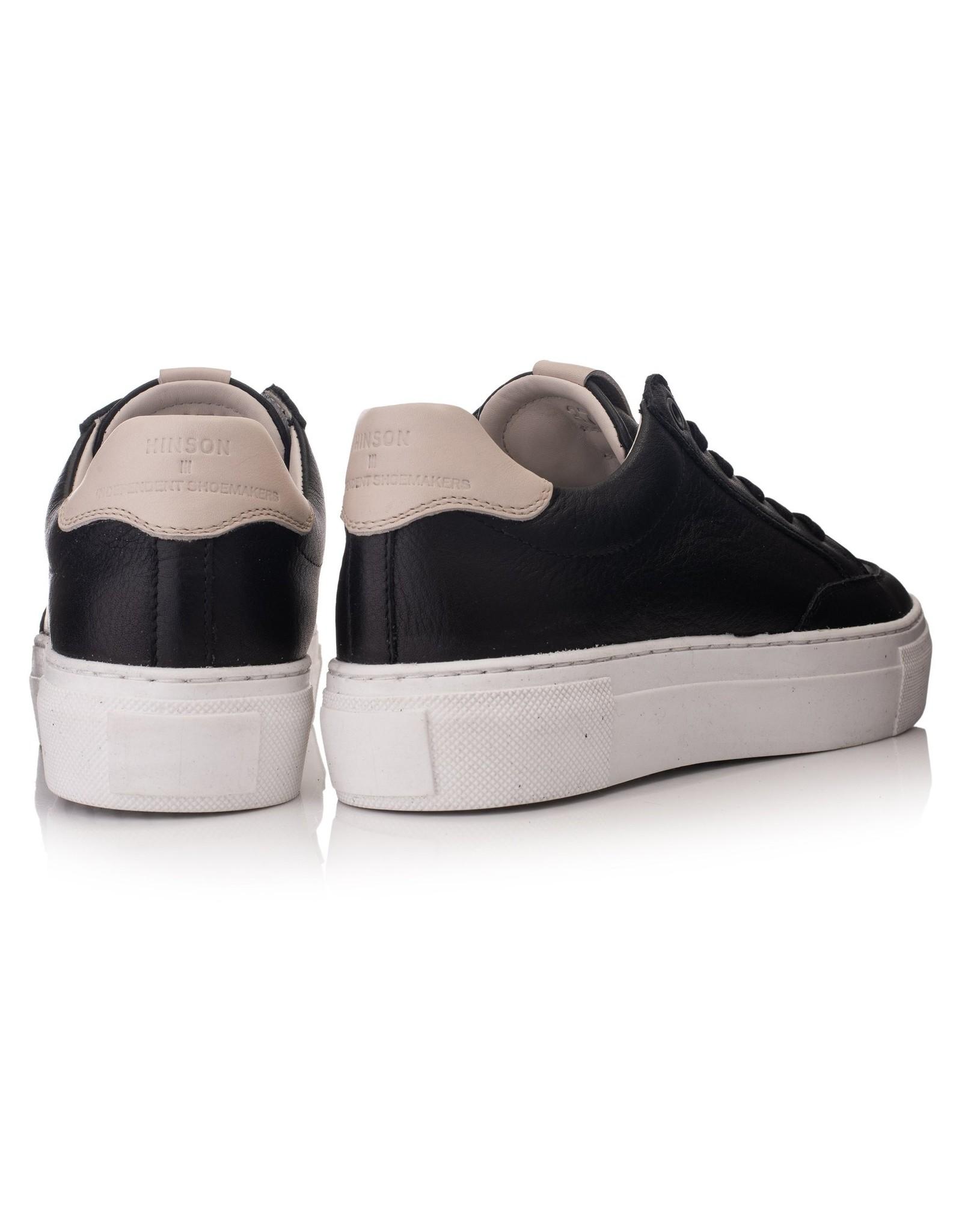 Hinson Sneaker leder dames zwart