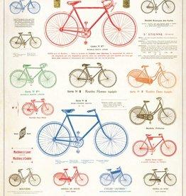 LES BICYCLETTES - VINTAGE POSTER 50cm X 70