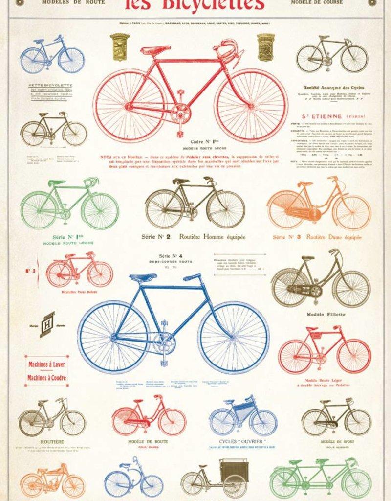AFFICHE VINTAGE - Les Bicyclettes (50x70cm)