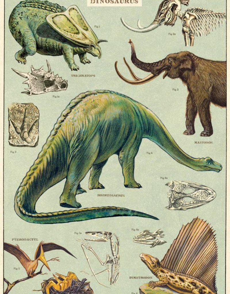 DINOSAURS - VINTAGE POSTER 50 cm x 70