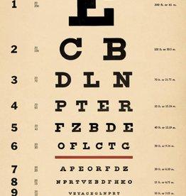 AFFICHE VINTAGE - Eye Chart (50x70cm)
