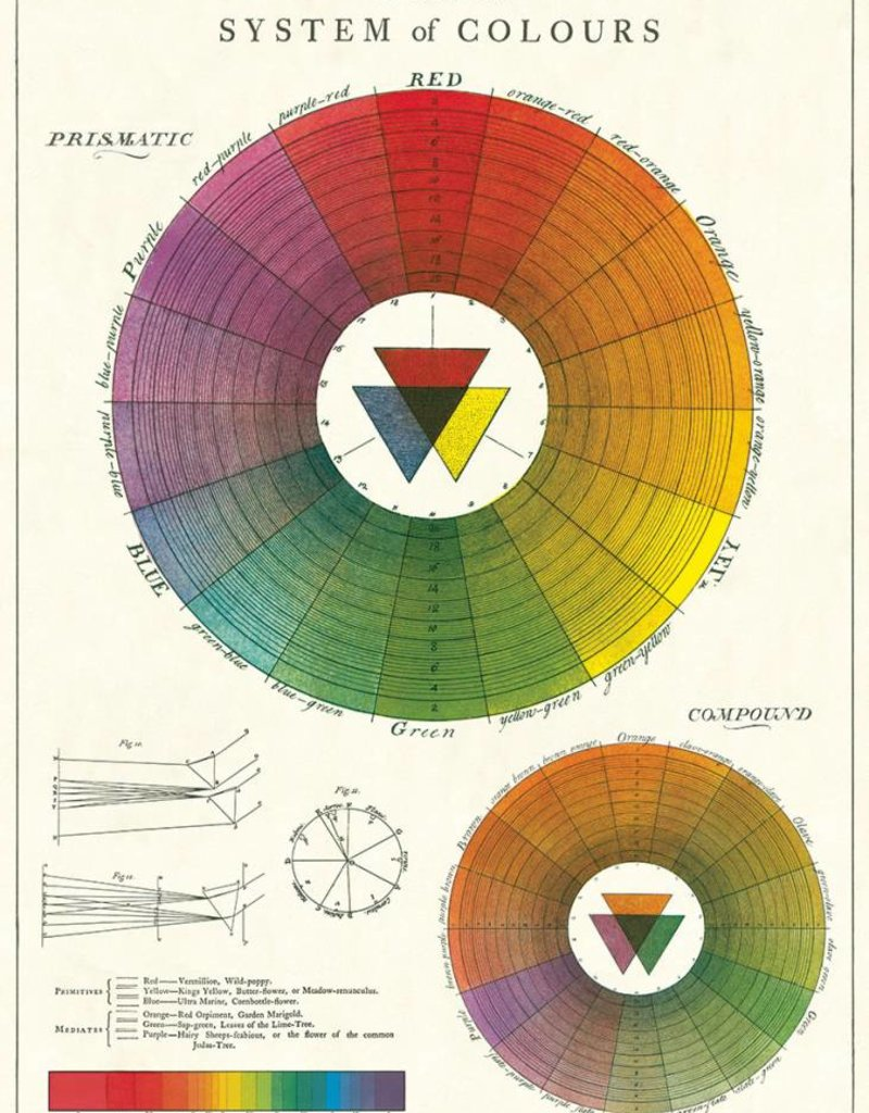 VINTAGE POSTER - Color Wheel (50x70cm)