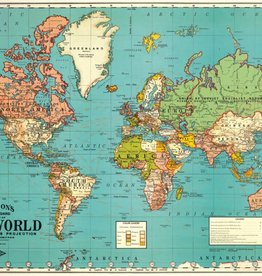 WORLD MAP 4 - VINTAGE POSTER 70 cm x 50