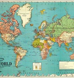 WORLD MAP 4 - WRAP SHEET 70cm X 50