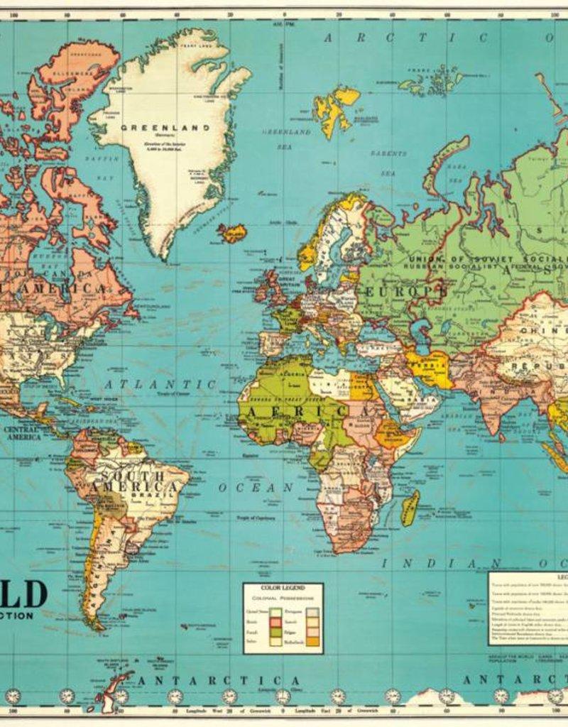 VINTAGE POSTER - Wereldkaart Nr. 4 (70x50cm)